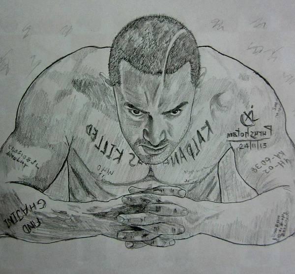 Bollywood Wall Art - Drawing - Pencil Sketch Amir Khan by Purushotama Anil Kumar