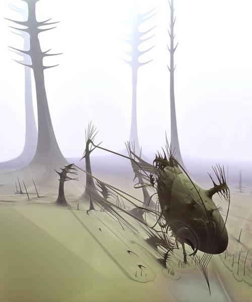 Fractal Landscape Digital Art - Pendergast Trapped by Bramvan
