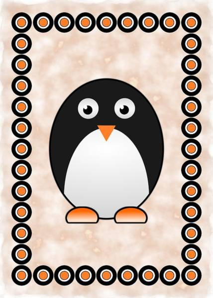 Digital Art - Penguin - Birds - Art For Kids by Anastasiya Malakhova
