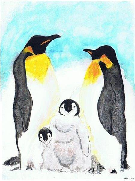 Painting - Penguins by Denise Railey