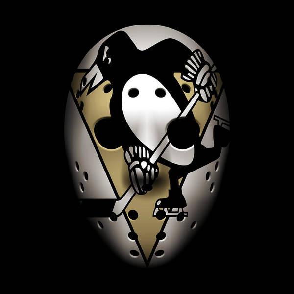 Wall Art - Photograph - Penguins Goalie Mask by Joe Hamilton
