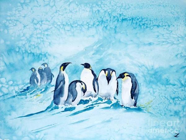Special Offer Painting - Penguins by Zaira Dzhaubaeva