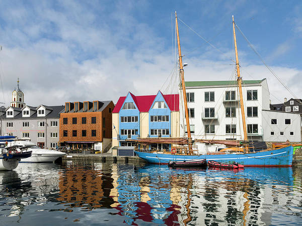 Faroe Island Wall Art - Photograph - Peninsula Tinganes With Old Town by Martin Zwick