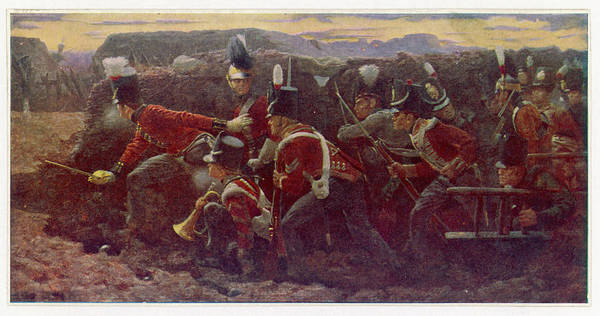 Wall Art - Drawing - Peninsula War  British Troops Under by Mary Evans Picture Library