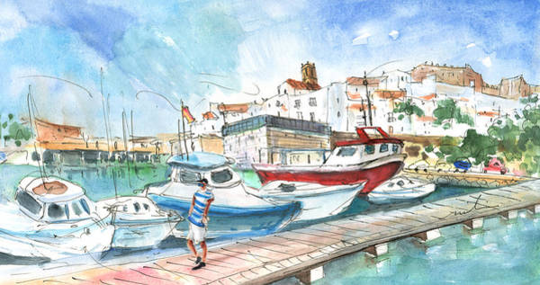 Wall Art - Painting - Peniscola Harbour 01 by Miki De Goodaboom