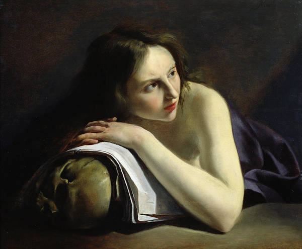 Rosy Photograph - Penitent Magdalen Oil On Canvas by Paulus Moreelse