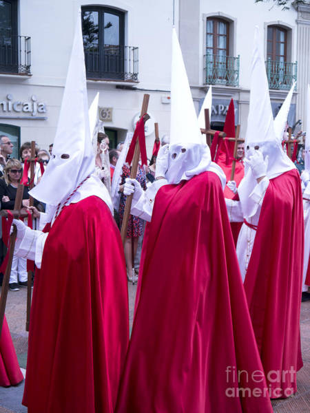 Photograph - Easter Sunday Penitente In Nerja by Brenda Kean