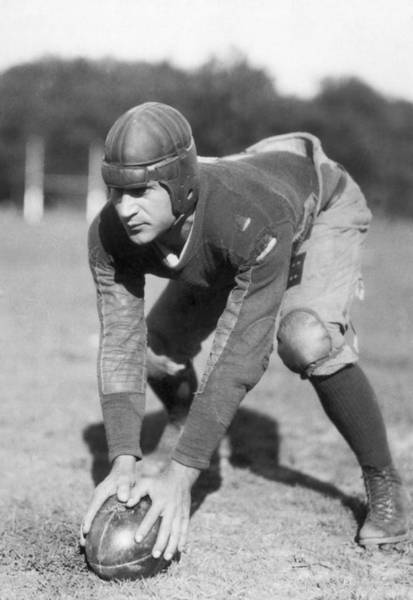Exertion Wall Art - Photograph - Penn Sate Football Captain by Underwood Archives