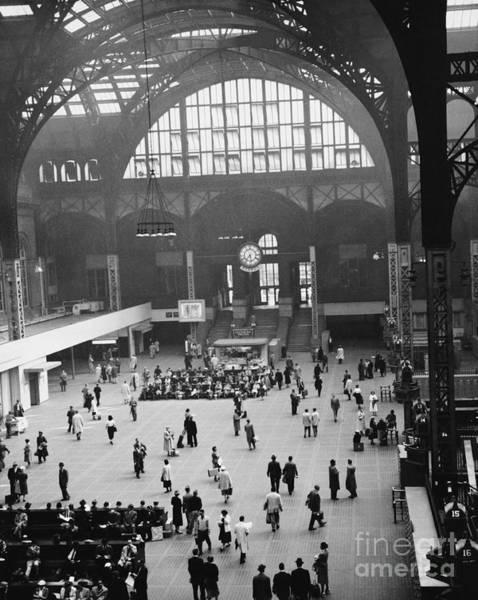 Photograph - Penn Station Nyc 1957 by Van D Bucher