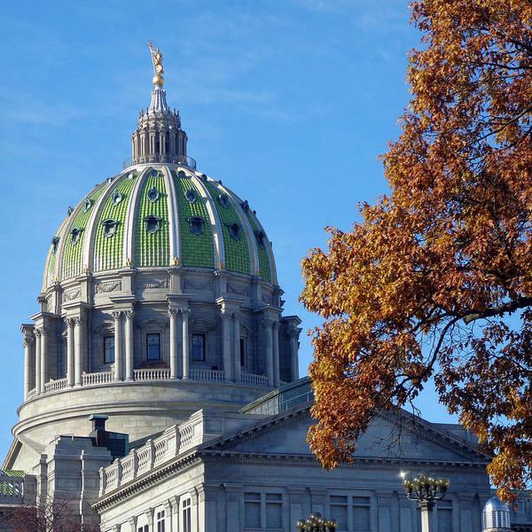 Joseph Photograph - Pennsylvania Capitol Building by Joseph Skompski