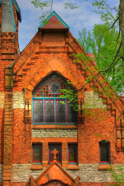 Wall Art - Photograph - Pennsylvania Country Roads - Mary Dixon Memorial Chapel-close1 At Linden Hall - Lititz by Michael Mazaika