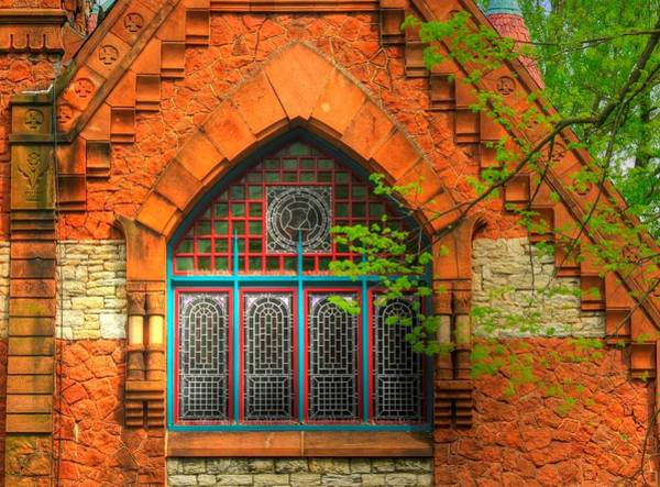Wall Art - Photograph - Pennsylvania Country Roads - Mary Dixon Memorial Chapel-close2 At Linden Hall - Lititz by Michael Mazaika