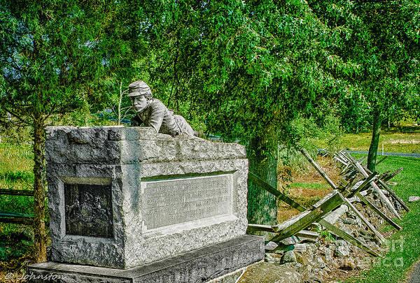 Photograph - Pennsylvania Memorial Gettysburg Battleground by Bob and Nadine Johnston