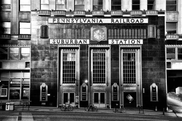 Photograph - Pennsylvania Railroad Suburban Station In Black And White by Bill Cannon