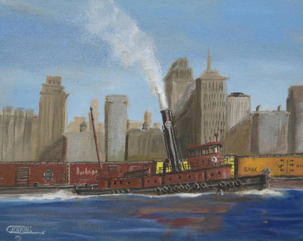 Pennsy Painting - Pennsylvania Railroad Tug by Christopher Jenkins