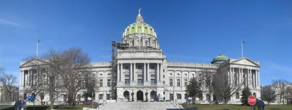 Capitol Digital Art - Pennsylvania State Capitol by Georgia Fowler