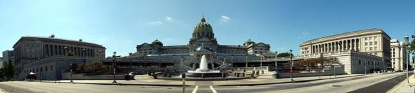 Capitol Digital Art - Pennsylvania State Capitol Panorama by Georgia Fowler
