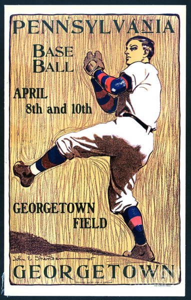 College Baseball Photograph - Pennsylvania Versus Georgetown Baseball 1905 by Padre Art
