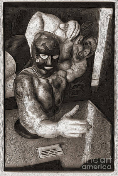 Painting - Penny Arcade Arm Wrestler by Gregory Dyer