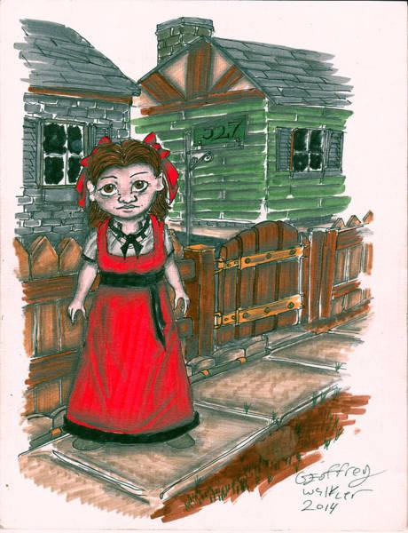 Paper Dress Mixed Media - Penny F. by Geoffrey Walker