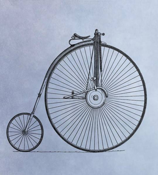 Drawing - Penny Farthing Bicycle by Dan Sproul