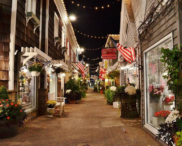 Penny Lane At Night - Rehoboth Beach Delaware Art Print