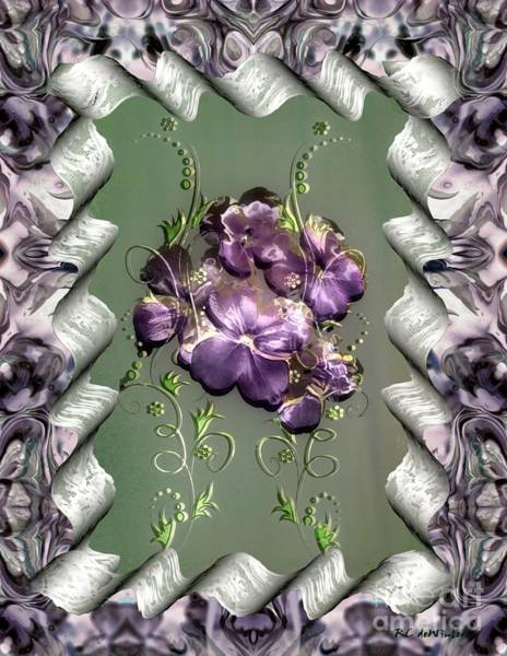 Painting - Penny Postcard Violetta by RC DeWinter