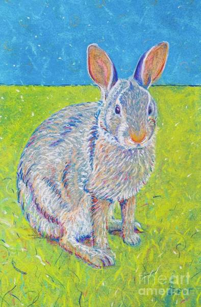 Wall Art - Pastel - Penny The Rabbit At Snickerhaus Garden II by Christine Belt