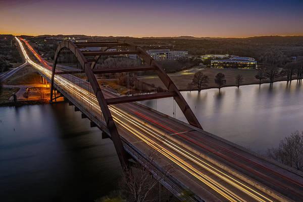Wall Art - Photograph - Austin Pennybacker Bridge At Dusk by Jurgen Lorenzen