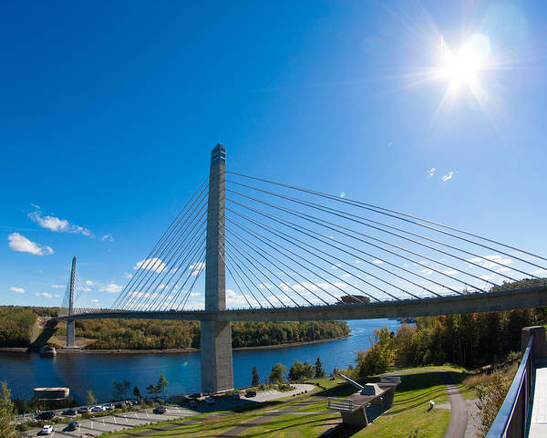 Photograph - Penobscot Narrows Bridge - Maine by Kirkodd Photography Of New England