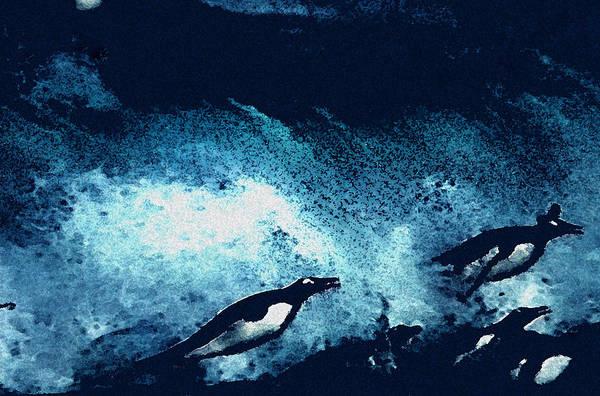 Painting - Penquin Jump by Colette V Hera  Guggenheim