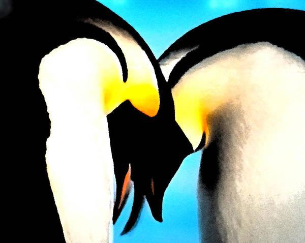 Penquin Love Dance Art Print