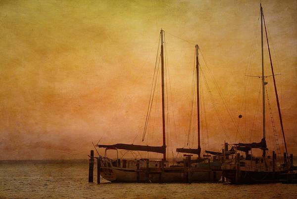 Gold Photograph - Pensacola Harbor by Kim Hojnacki