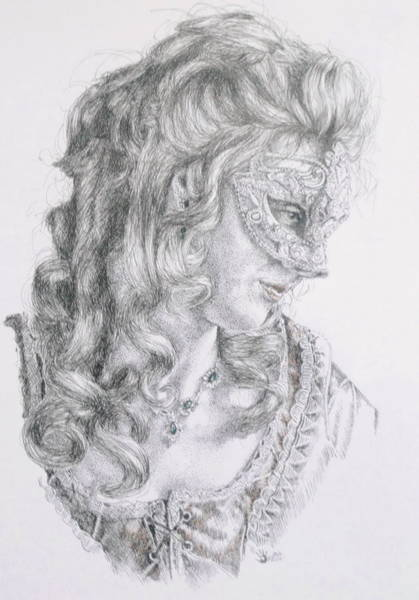 Drawing - Pensive by Barbara Keith