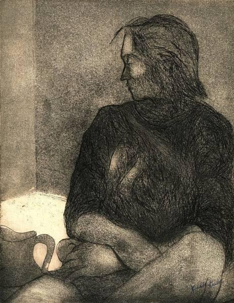 Drawing - Pensive by Kendall Kessler