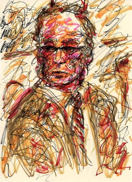 Drawing - Pensive Suit by Rachel Scott