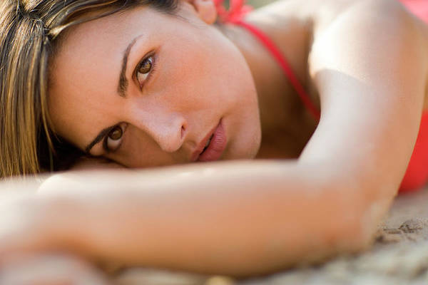 Sultry Photograph - Pensive Woman by Ian Hooton/science Photo Library