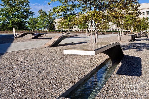 Hijack Wall Art - Photograph - Pentagon Memorial by Lawrence Burry