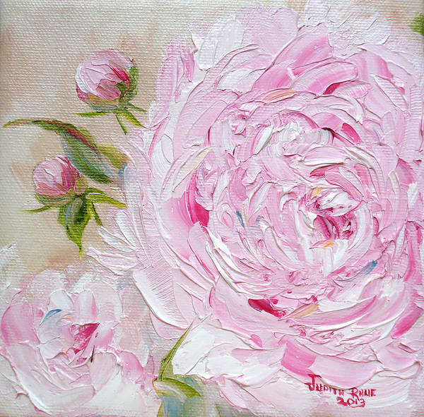 Bridesmaids Painting - Peony by Judith Rhue
