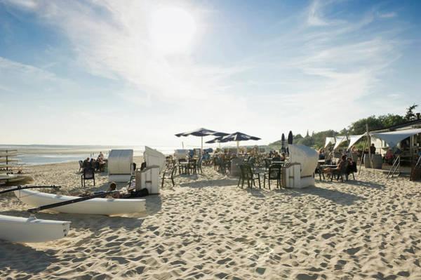 Bar Photograph - People At A Beach Bar, Wyk, Foehr by Daniel Schoenen / Look-foto