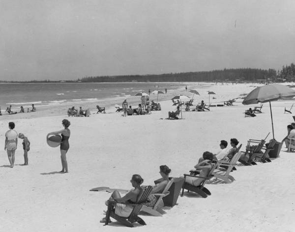 Feb Wall Art - Photograph - People At The Beach by Retro Images Archive