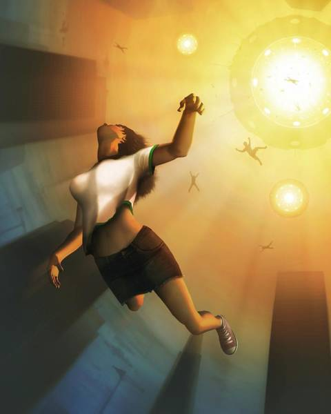 Abduction Wall Art - Photograph - People Being Abducted By A Ufo by Mark Garlick/science Photo Library