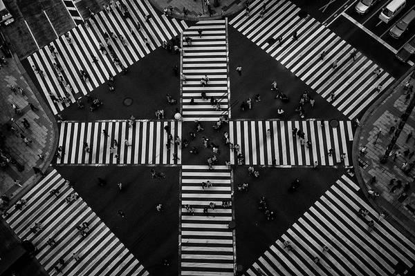 Urban Photograph - People Crossing by Koji Tajima