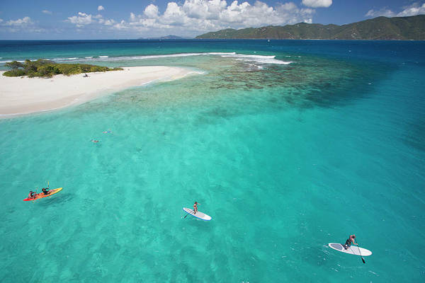 British Virgin Islands Photograph - People Doing Water Activities by Karl Weatherly