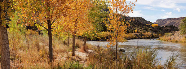 Rio Grande River Photograph - People Fishing In The Rio Grande River by Panoramic Images