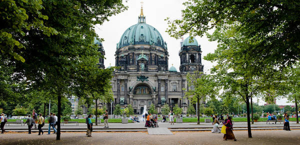 Berlin Cathedral Photograph - People In A Park In Front by Panoramic Images