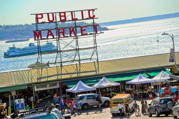 Pikes Place Photograph - People In A Public Market, Pike Place by Panoramic Images