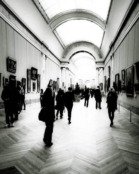 Photograph - People In Motion In The Louvre by Mark E Tisdale