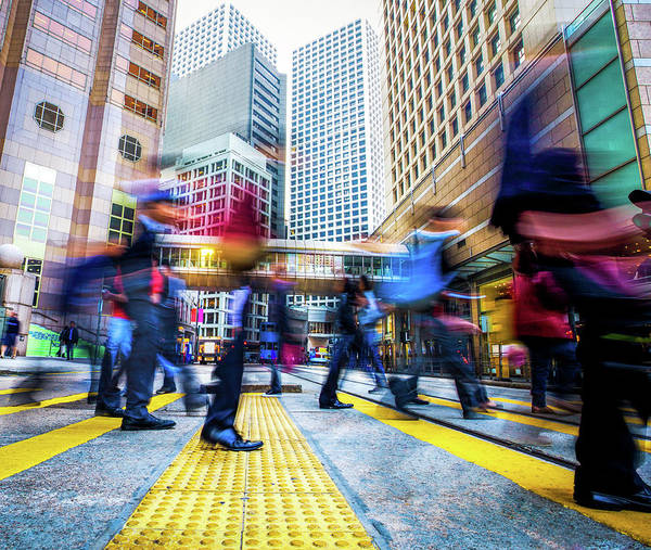 Rush Hour Photograph - People In The City by Itsskin