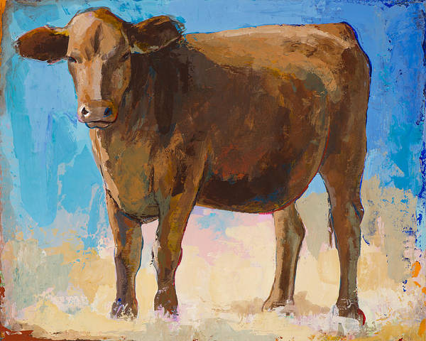 Farm Animals Painting - People Like Cows #1 by David Palmer